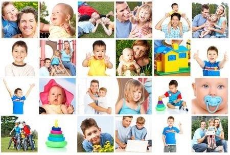 6024328-familias-felices-padres-madres-y-ninos
