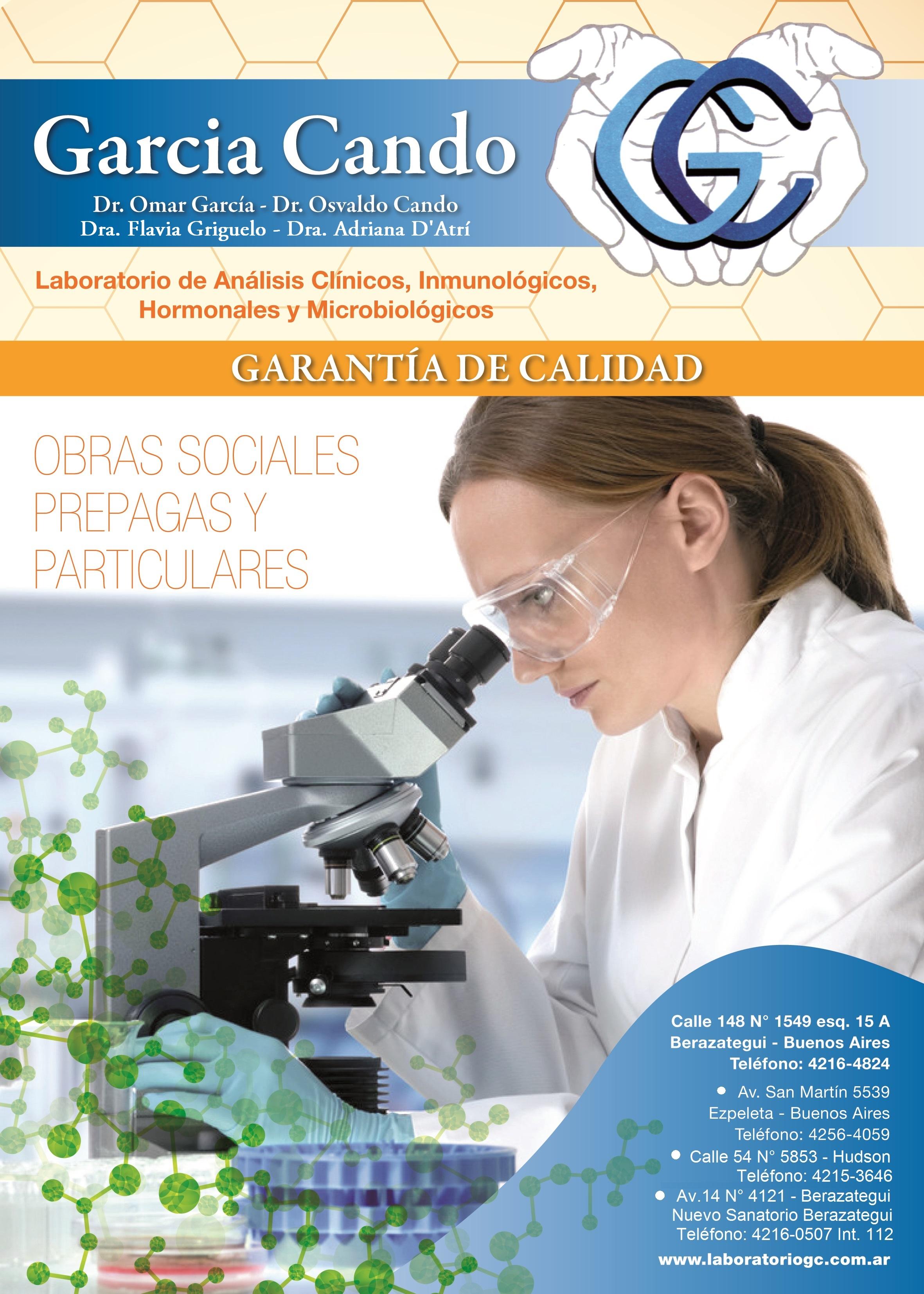 Laboratorio GC, analisis clinicos