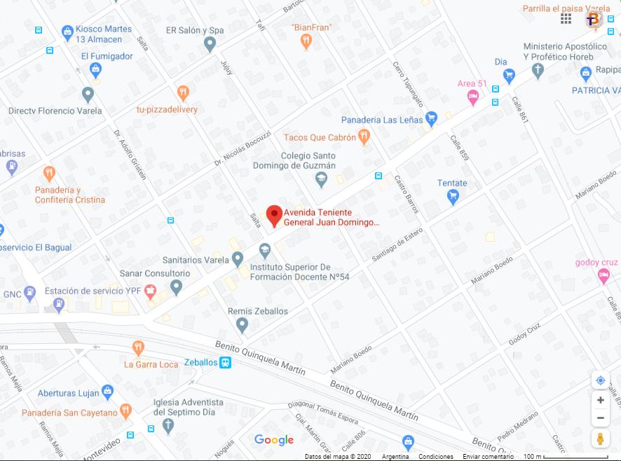 Mapa de Pedrito Carnicería